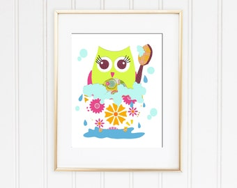 Owl Bathroom Decor Etsy