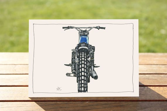 """Motorcycle Gift Card - """"Back It Up"""" Harley Davidson Portrait 