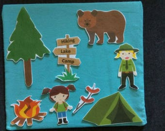 Travel Size Lap Flannel Board // Stories // Simple Flannel Board//