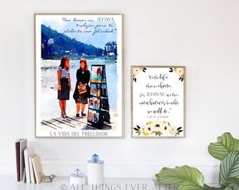 La vida del precursor | Song 140 | SPANISH | SKE Graduation Gift | JW | Print | New Songs | Printable | Wall Art | 0076