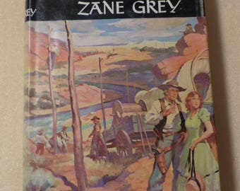 Western Union Zane Grey novel Vintage book Antique book Collectible book American West novel 1930s book Gift for readers Gift for writers
