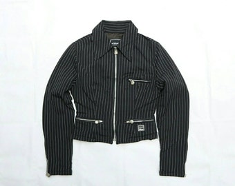 Vintage authentic Versace Couture Stripes bomber jacket size xs very good condition made in italy