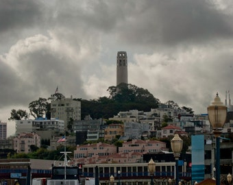 The Coit Tower, San Francisco, Travel Photography, Digital Download, Wall Art