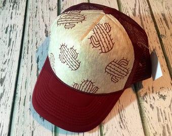 Cactus, cactus fashion, cactus hat, cactus accessories, Cute trucker hat, trucker hat, womens hat, cactus fashion