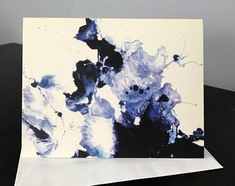 "Greeting Card by Meredith B. Studios of the original painting ""Splatter"""