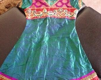 Knee length blue Indian Dress