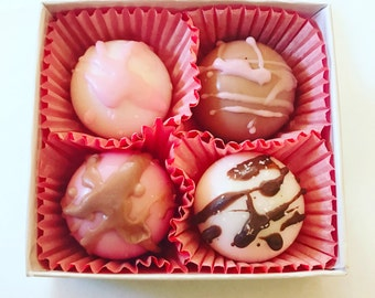 Soap truffles - soap chocolates - candy look alike soap -novelty soap - guest soap - fun soap