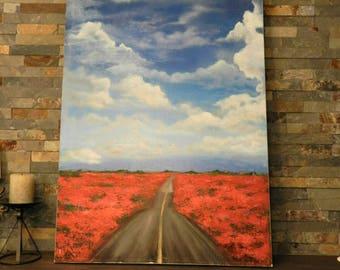 poppy oil painting, poppy art original painting,poppy painting, floral painting,poppy field painting,red poppy, poppy wall art, poppy lovers