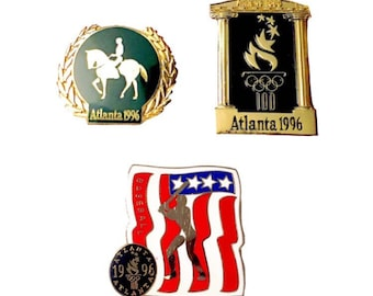 Vintage Collectible Olympic Pins - Summer Olympic Games, Atlanta 1996 - 3 Available, Sold Individually or Cheaper as Set!