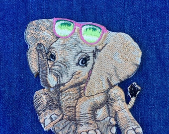 Elephant Iron-On Patch