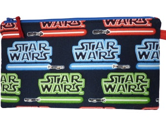 Star Wars Lightsaber Makeup Bag, Gadget Bag, Pencil Case, Small Project Bag, Multi Purpose Pouch Handmade in the UK