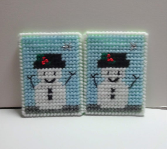 Handmade Plastic Snowman Gift Card Holder Can Be Hung On the Christmas Tree