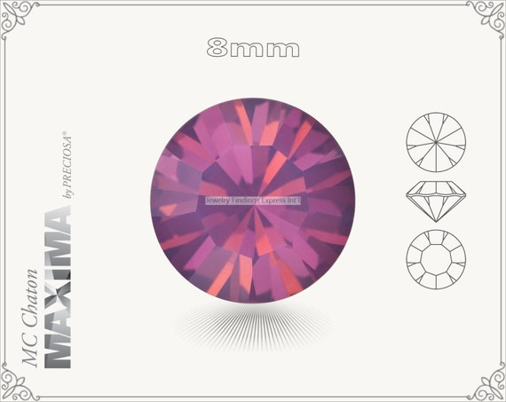 6 pc.+ SS39 (8mm) Preciosa MC Chaton MAXIMA - Amethyst Opal Color