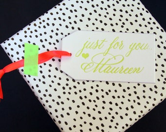 Personalized Letterpress Gift Tags - Just For You