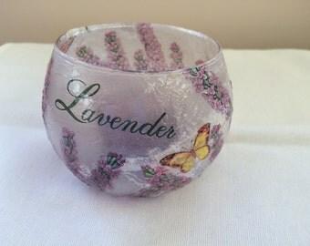 Hand decorated T light holder by Jannietta