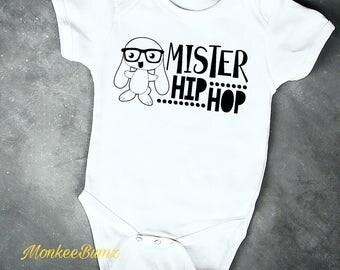 Mr Hip Hop..Easter Bunny Shirt... Easter Shirt...Made to Order.. Easter Baby Shirt... Easter Tshirt...Easter Bunny