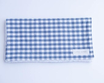 Burp Cloth - Large Blue & White Checked