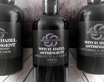 Witch Hazel Astringent, astringent for normal skin, everyday astringent, aloe vera, essential oils, natural face cleanser