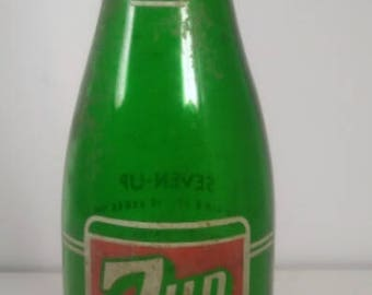 Collectible Vintage Glass 7up Bottle