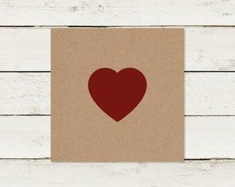 Wedding invitation | Kraft paper | Square | No 3