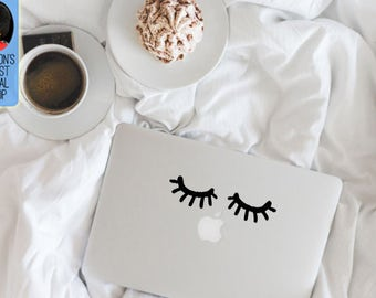 Eyelashes Macbook / Laptop Vinyl Decal