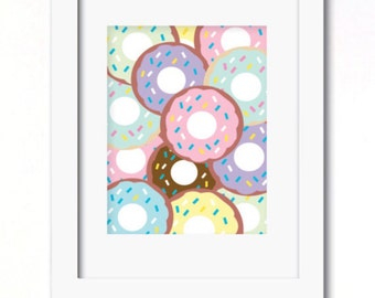 A4 lots of donuts print