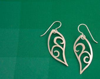 Delicate Silver Swirl Earrings