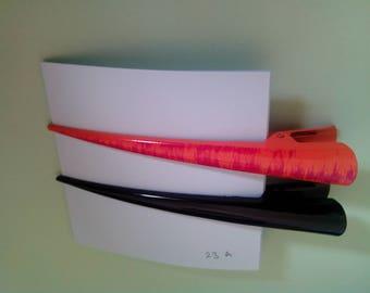2 alligator hair clips metal long beak hair pins barrette clips for long thick and thin hair, 13 cm length (5 inch)