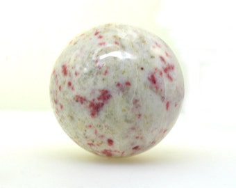 Cinnabrite crystal sphere 54 mm, cinnibrite, red epidote in scapolite crystal ball