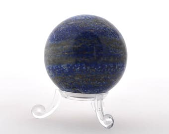 Lapis lazuli crystal ball, 52 mm lapis lazuli polished crystal sphere