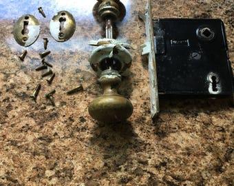 Antique Brass Door Knob Assembly