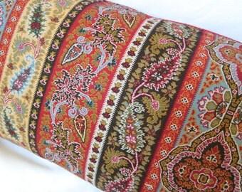 Ralph Lauren Chettenham Paisl-Red Sky / Decorative Lumbar Pillow Cover / Decorative Corded / 14 x 26