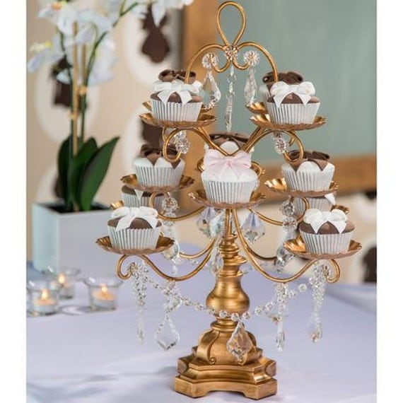 Cupcake Chandelier Stand Thejotsnet - Cupcake chandelier stand crystals