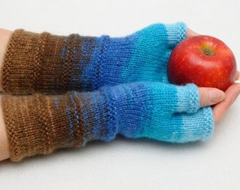 Knit Fingerless Mittens Knit Gloves Fingerless Gloves Womens Gift for Her Fingerless Gloves Arm Warmers Girlfriend Gift for Wife Sister Gift