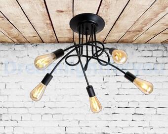 Multi-light ceiling lamp Pendant light Industrial Chandelier Spider chandelier Industrial lighting Modern lighting Kitchen pendant light