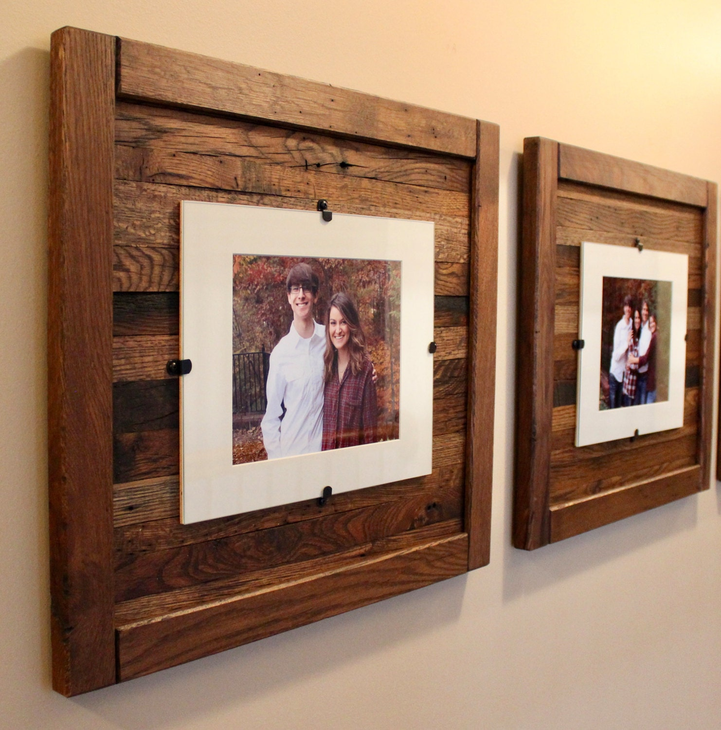 Rustic picture frames reclaimed wood frames set of 2 8 for Cheap a frames