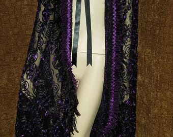 Amethist Purple and Black Cape