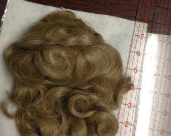 Long Curl Doll Hair WIG. Size 12. Blonde.  Vintage NOS
