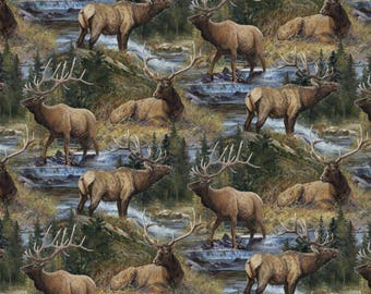 """Wild Wings Lazy Afternoon Scenic Premium 100% cotton 43"""" wide fabric (SC145)"""