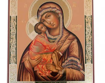 Our Lady Donskaya russian icon - #124bb