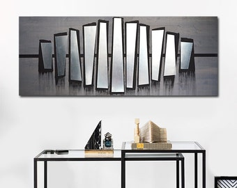 Contemporary Metal Wall Art, Abstract Metal Art Wall Decor, Metal Wood Wall Art, Modern Abstract Wall Art, Home Metal Wall Art