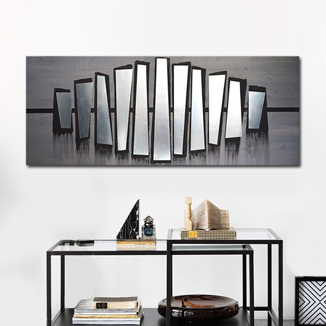 Wall Decor All Modern : Contemporary metal wall art abstract decor