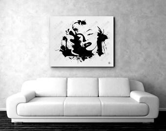 Marilyn Monroe   Wall Art   Poster   Portrait   Abstract Art   Modern Art