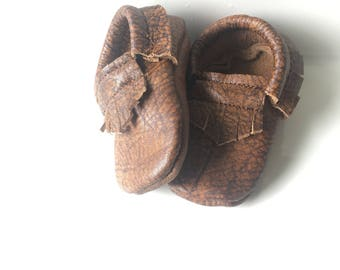 Marble Brown Leather MOCS