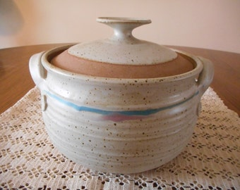 Large Stoneware Casserole with Lid