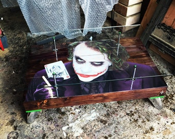 """The Joker """"Playing Card"""" Coffee Table with Glass top"""