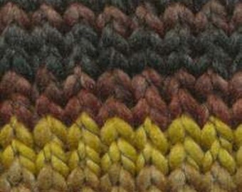 Euro Baby - Maypole Chunky Self Striping 100% Polyester Yarn Color 32 Lot 150332 - Hayride Brown, green, natural