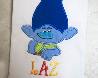 Branch Troll Personalized Applique Shirt