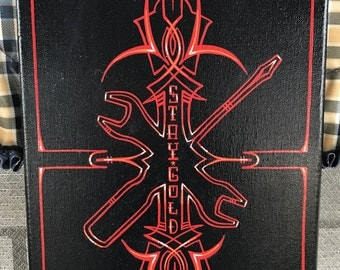 Hot rod tools pinstriping art canvas