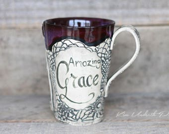 Smokey Merlot vintage tall mugs with saying